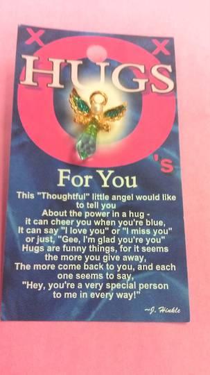 Hugs For You Angel Pin