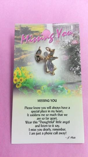 Missing You Angel Pin