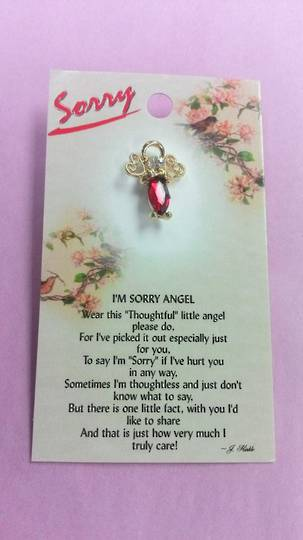 I'm Sorry Angel Pin