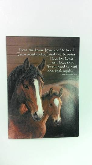 Mare and Foal Card and Envelope