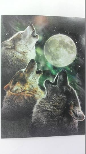 Wolves Howling Card and Envelope