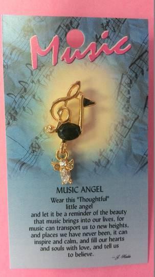 Music Angel Pin