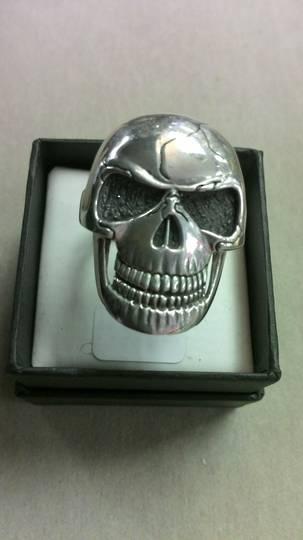 Large Flat Skull Ring