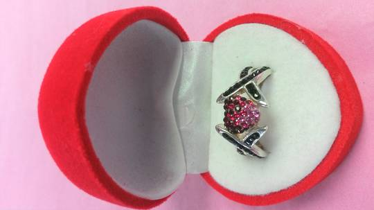 Split Band Swaroski Crystal Heart Ring
