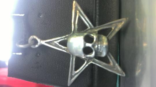 Skull on Pentagram Pendant