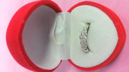 Wave/Koru Silver Ring