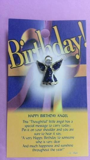 Happy Birthday Angel Brooch