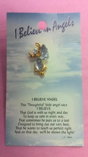 I Believe in Angels Brooch