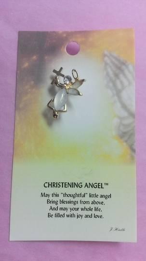 Christening Angel Brooch