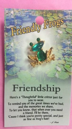 Friendship Frog Brooch