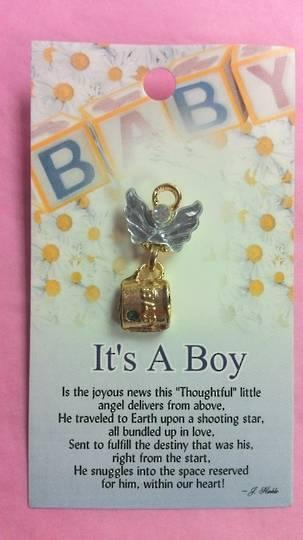 Its A Boy Angel Brooch