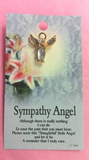 Sympathy Angel Brooch