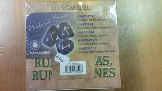 Amethyst Runestones by Lo Scarabeo