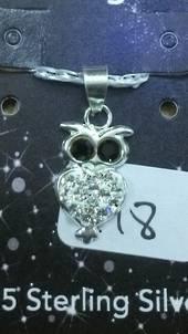 Crystal Evolution White Owl Pendant
