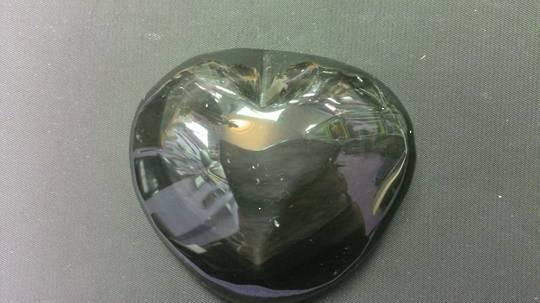 Rainbow Obsidian Heart C