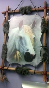 White Horse Dreamcatcher/ Mandela