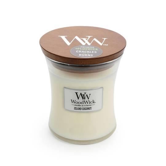 WOODWICK-MEDIUM Candle-ISLAND COCONUT