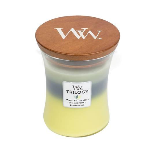 WOODWICK-Medium Candle TRILOGY-WOODLAND SHADE
