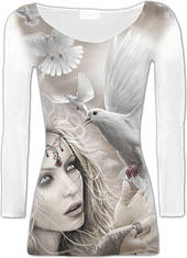 Angel Doves Long sleeve Mesh T (2XL) was $65 now $35