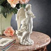 Trumpeting Cathedral Angel Bonded Marble Resin Statue