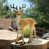Woodland Buck Deer Statue