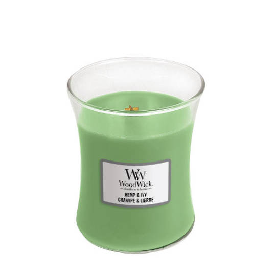 Woodwick Medium Candle HEMP & IVY