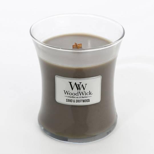 Woodwick Candle -Medium Sand & Driftwood