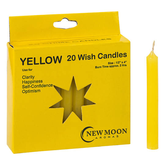 Wish Candle  (20 Pack) Yellow