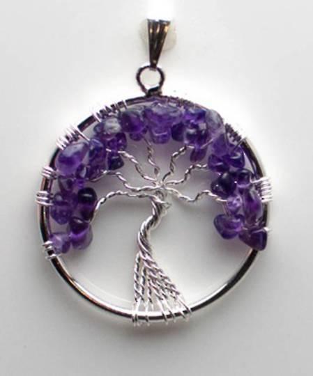 Amethyst Tree Pendant