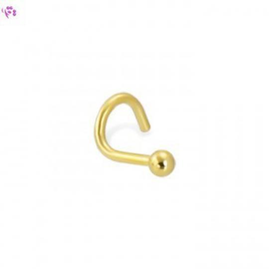 14kt Gold Ball Nostril Screw 1.5mm