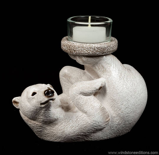 Windstone Editions Bear Feet Candle Lamp