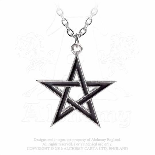 Black Star Pentagram Necklace