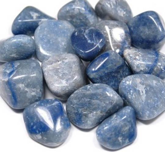 Small Blue Quartz Tumbled Piece