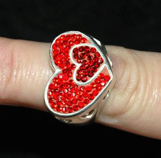 Red swaroski crystal Ring