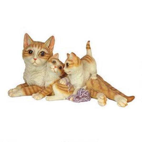 "Kitten Crowd"" Cat Family Statue"