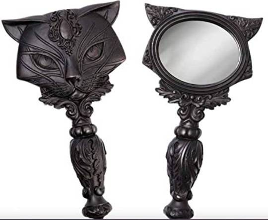 SACRED CAT HAND MIRROR (BLACK)