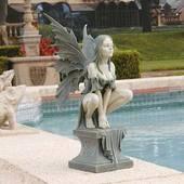 Celtic Fairy's Perilous Perch Garden Statue