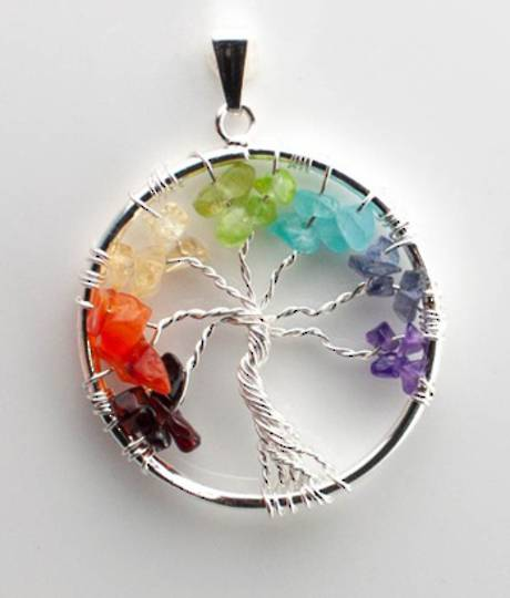 Chakra Tree Pendant
