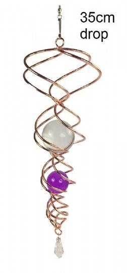 Twister Copper Crystal Purple Vortex Spinner -