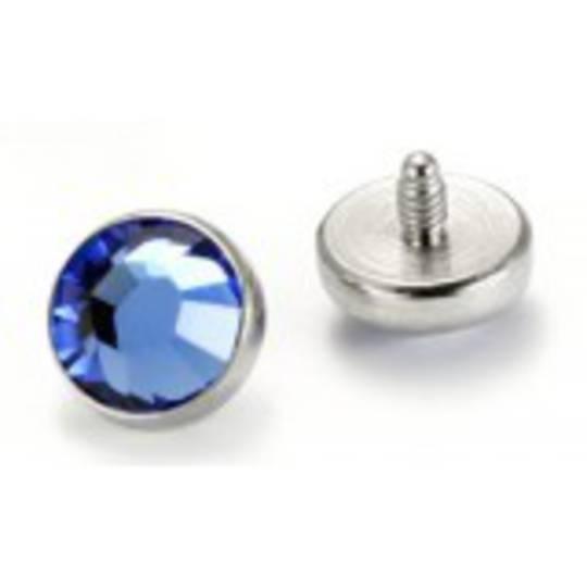 Sapphire  Blue Mircodermal Top