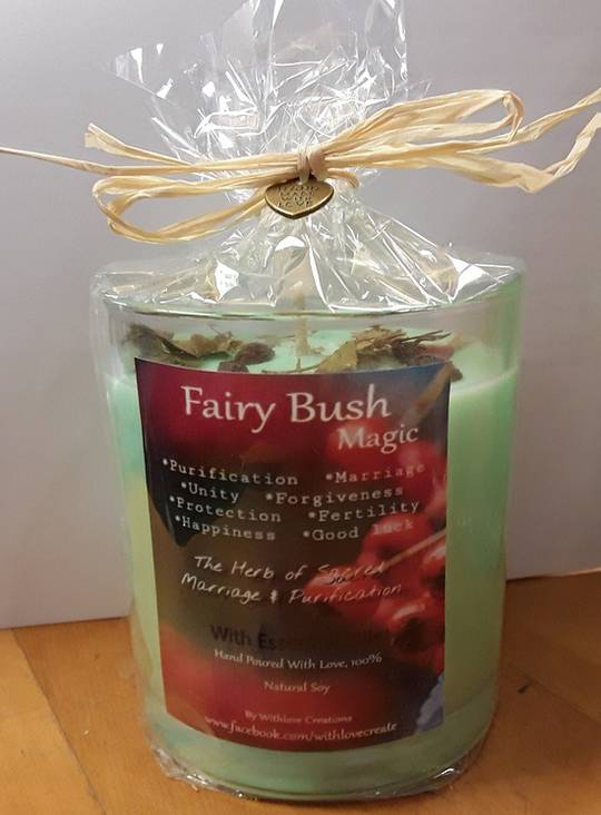 Fairy Bush Magical Candle (clearing relationship issues)