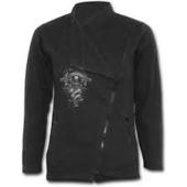 IN GOTH WE TRUST - Slant Zip Women Biker Jacket Black XXL was $120 now $60