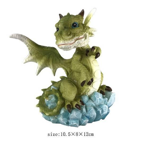 Green Dragon On Gems