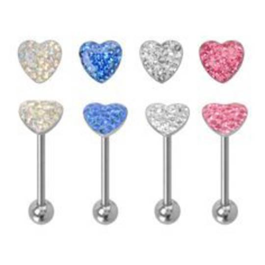 Crystal Heart Tongue Bar