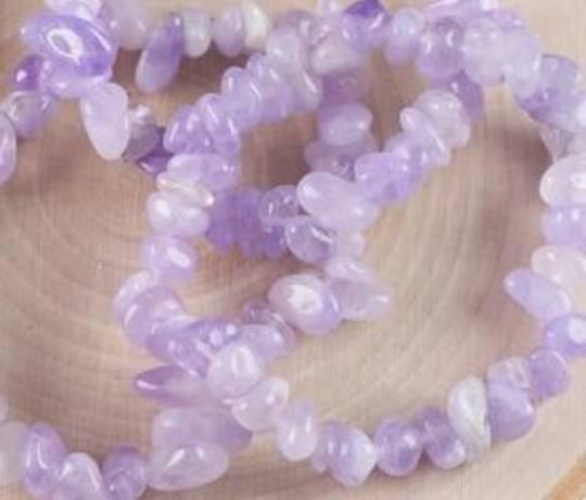 Lavender Amethyst Chip Bracelet
