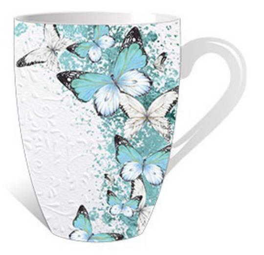 Aqua Butterflies Mug