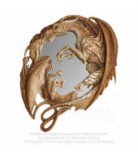Morgan Theomachia Dragon Wall Mirror