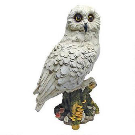 Mystical White Owl Statue