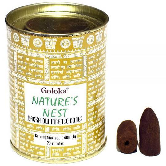 Goloka Nature's Nest Backflow Incense Cones
