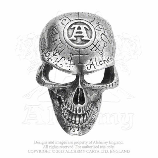 Omega Skull Belt Buckle Alchemcy Gothic